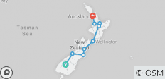 Kiwiana Panorama (Queenstown To Auckland) - 9 destinations