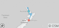 Northern Choice (Start Auckland, End Wellington, Summer, 10 Days) - 7 destinations