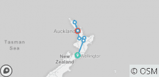Northern Choice (Start Wellington, End Auckland, Summer, 10 Days) - 7 destinations