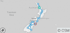 The Big Tiki (Start Auckland, End Christchurch, Summer, 19 Days) - 20 destinations