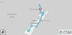 The Big Tiki (Start Queenstown, End Auckland, Summer, 17 Days) - 11 destinations