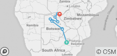 Botswana and Falls Overland: Wildlife Walks & Safari Drives - 9 destinations