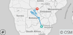 Botswana & Falls Adventure - 8 destinations