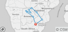Southern Africa Encompassed: Bush Camps & Wildlife Spotting - 10 destinations