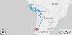 Lima To Santiago (35 Days) The Cordilleras - 18 destinations