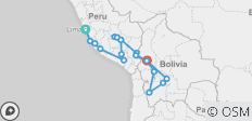 Lima To La Paz (30 Days) Peru & Bolivia Encompassed - 19 destinations