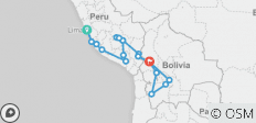 Lima To La Paz (30 Days) Peru & Bolivia Encompassed - 17 destinations