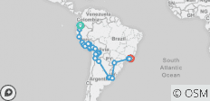 The Great South American Journey–Quito to Rio Adventure - 28 destinations