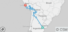 Buenos Aires to Lima: Sacred Valley & Salt Flats - 25 destinations