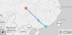 Hong Kong to Chengdu - 4 destinations