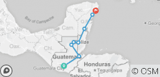 Guatemala to Mexico - 8 destinations