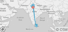 Delhi to Colombo - 15 days - 16 destinations