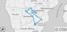 Explore Southern Africa - 13 destinations