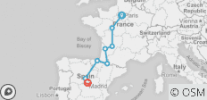 Paris to Madrid - 8 destinations