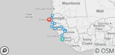 West African Atlantic Explorer (Freetown to Dakar) - 12 destinations