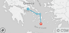 Athens to Santorini - 4 destinations