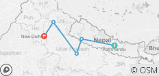 Kathmandu to Delhi - 5 destinations