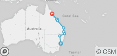 Most of the Coast–Sydney to Cairns - 9 destinations