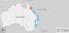 Most of the Coast: Sydney to Cairns - 9 destinations