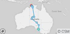Outback to the Top End–Adelaide to Darwin - 12 destinations