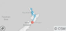 New Zealand–North Island Encompassed - 8 destinations