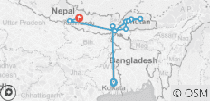 Bengal & Bhutan Explored - 12 destinations