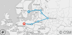 Russia Plus (Start Stockholm, End Berlin, 14 Days) - 8 destinations