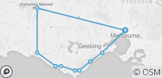 3 Day Great Ocean Road & Grampians Adventure Melbourne to Melbourne - 10 destinations