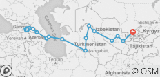The Caucasus, the Stans & Samarkand (Tbilisi to Tashkent) - 15 destinations