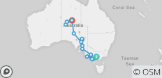 Down South & Outback (Ex. Melbourne) 2019-20 - 17 destinations