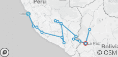 Lima To La Paz (26 Days) Peru & Bolivia Explorer (inc. Amazon Jungle) - 16 destinations