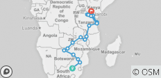 29 Day East African Explorer - 20 destinations