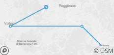 Cycle San Gimignano to Siena - 4 destinations