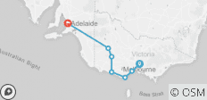 Melbourne to Adelaide - 3 Days - 7 destinations