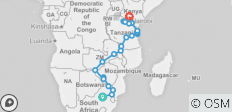 East African Explorer 29 days - 22 destinations
