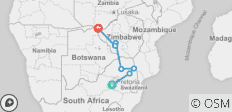 Kruger and Victoria Falls Accommodated - 7 destinations
