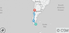 Ushuaia to Santiago - 10 destinations