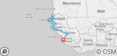 Dakar to Freetown - 8 destinations