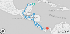 Mexico  Pana  Antigua  San Jose  Panama - 32 destinations