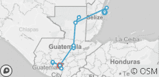 Start in Belize City End in Guatemala - 15 destinations