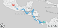 Start Panama End Mexico City - 30 destinations