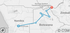 Botswana & Victoria Falls Adventure - 7 destinations