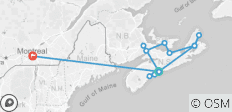 Wonders of the Maritimes & Scenic Cape Breton with Ocean Train to Montreal (from Halifax to Montreal) - 13 destinations