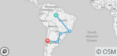 South America Getaway with Amazon & Santiago - 6 destinations