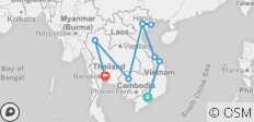 Exploring Vietnam & Cambodia with Bangkok & Chiang Mai - 11 destinations