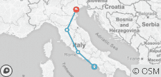3 Nights Sorrento, 3 Nights Rome, 3 Nights Florence & 3 Nights Venice - 4 destinations