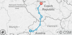Czech Republic - Salzburg to Prague Bike Tour - 10 destinations