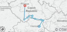 Czech Republic - Vienna to Prague Short Bike Tour - 11 destinations