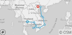 Cambodia & Vietnam on a Shoestring - 13 destinations