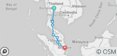Bangkok to Singapore on a Shoestring - 9 destinations
